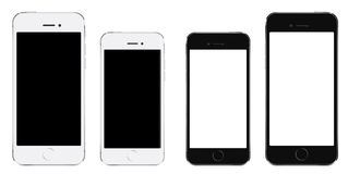 Brand new realistic mobile phone black smartphone like iphone vector illustration