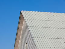 Brand new roof slate roofing. Against blue sky Stock Photos