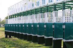 Brand new sarting gate for horse races Royalty Free Stock Images