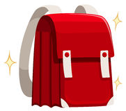 Brand new schoolbag in red color Royalty Free Stock Photo