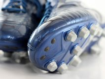 Brand new Shiny Blue Soccer boots / shoes Stock Photography