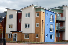 Brand new show homes. On a new housing development near London royalty free stock images