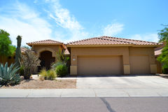 Brand New Spanish/Southwestern Style Arizona Dream Home Stock Photography