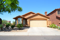 Brand New Spanish/Southwestern Style Arizona Dream Home Royalty Free Stock Photography