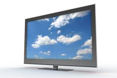 Brand new stylish plasma tv Royalty Free Stock Photos