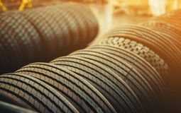 Brand new tires stock images
