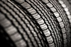 Brand New Tires Row Stock Photo