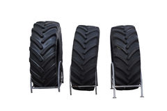 Brand new Tractor tires isolated on white background. Brand new Tractor tires isolated on white background, clipping path included Royalty Free Stock Photography