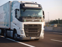 Brand new volvo fh truck. Brand new fh vlvo truck drives along modena motorway a4 in italy europe Royalty Free Stock Images