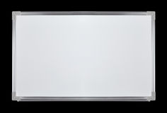 Brand New Whiteboard. A brand new, clean and shiny whiteboard isolated on black Stock Photography