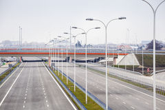 Brand new, wide motorway Royalty Free Stock Photography
