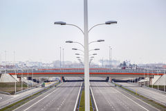 Brand new, wide motorway Stock Photo