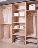 Brand new wooden wardrobe Stock Photo