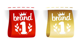 Brand number one labels. Stock Images