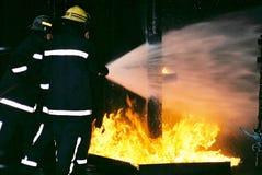 Brand och explosion Royaltyfria Foton