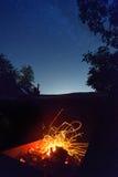 Brand och himmel Arkivbild