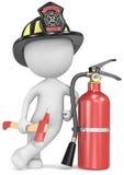 Brand och räddningsaktion. royaltyfri illustrationer