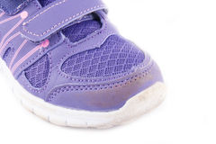 Brand old purple sneakers Stock Images