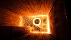 Brand op de muur Stock Foto's