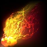 Brand op een wind royalty-vrije illustratie