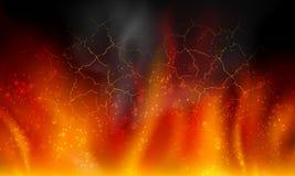 Brand op een zwarte achtergrond Royalty-vrije Stock Afbeelding
