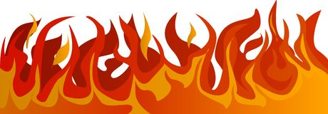 Brand op transparante achtergrond royalty-vrije illustratie