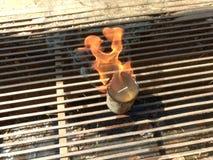 Brand op Water Stock Afbeeldingen