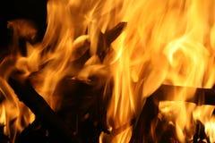 Brand op zijn plaats Stock Foto's
