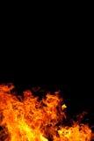 Brand op Zwarte royalty-vrije stock afbeelding
