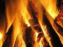 Brand, open haard, vlam, Stock Fotografie