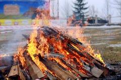 Brand på den etniska festivalen arkivbild