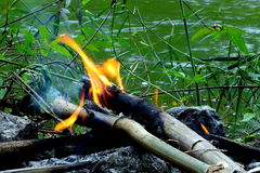 Brand på vatten Arkivfoton