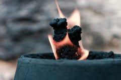 Brand på vinden Arkivfoto