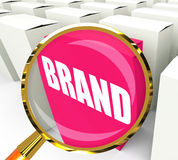 Brand Packet Refers to Branding Marketing and Labels Royalty Free Stock Image