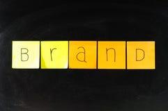Brand paper stock photo
