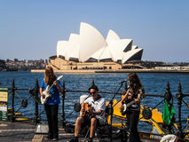 A brand performed at Sydney harbour Royalty Free Stock Image