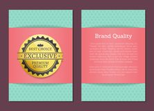 Brand Quality Best Choice Stamp Golden Label Award. Brand quality best choice stamp golden label reward award vector illustration cover poster , emblem seal with Stock Image