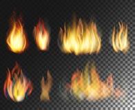 brand Realistisk beståndsdeluppsättning Royaltyfri Foto