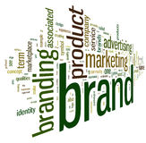 Brand related words in tag cloud Royalty Free Stock Image