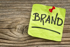 Brand reminder note Royalty Free Stock Photography