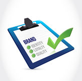 Brand selection on a clipboard illustration design Stock Images