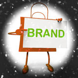 Brand Shopping Bag Shows Branding Trademark or Product Label Stock Image