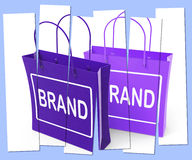 Brand Shopping Bags Show Branding Product Label or Trademark Royalty Free Stock Photo