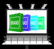 Brand Shopping Sign Shows Branding Trademark Or Label Royalty Free Stock Images
