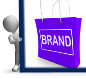 Brand Shopping Sign Shows Branding Trademark Or Label Stock Image