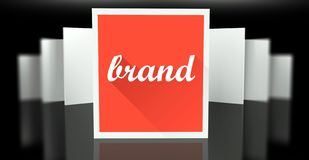 Brand sign exhibition gallery stand walls Royalty Free Stock Photography