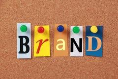 Brand Single Word Royalty Free Stock Photo