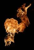 Brand som isoleras på black Arkivfoton