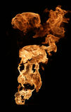 Brand som isoleras på black Arkivbilder