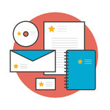 Brand stationary corporate identity Royalty Free Stock Image